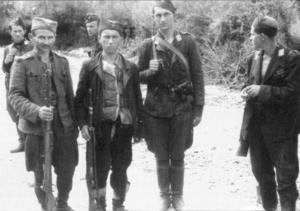 Април 42' усташка Црна легија и партизанска  I пролетерска бригада