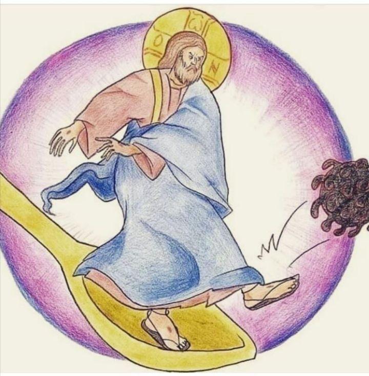 Богохулни цртеж који последњих дана кружи међу православнима.
